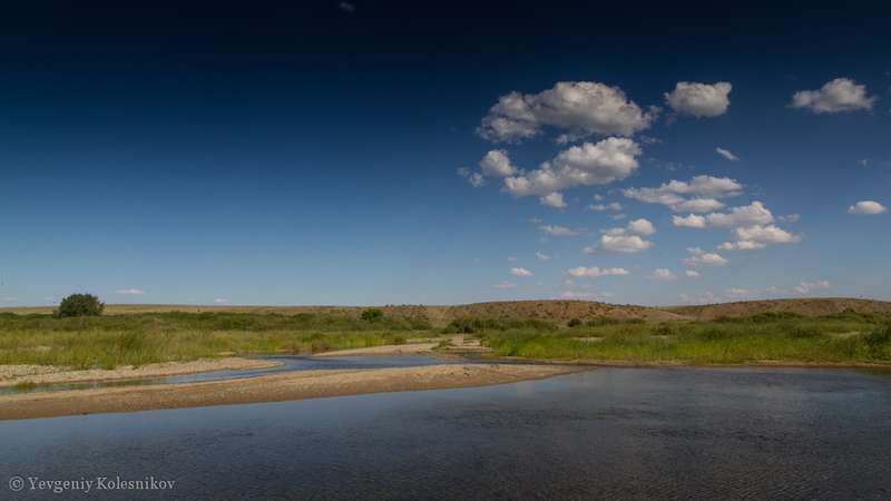 Река Тобол.Перекат.
