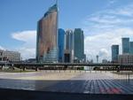 """Астана, левобережье. Вид на Байтерек со стороны НК """"КазМунайГаз"""""""